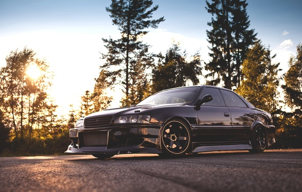 Picture forest, the sky, toyota, wood, Toyota, chaser, chaser