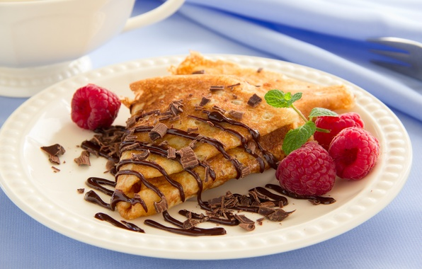 Picture raspberry, food, chocolate, fruit, pancakes, dessert, food, chocolate, fruits, dessert, pancakes, pancakes, raspberries
