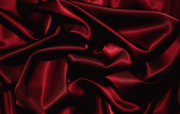 Photo Wallpaper Folds Texture Red Fabric
