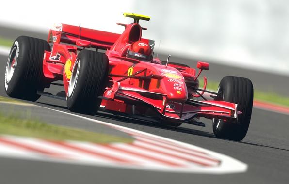 Picture road, machine, sport, road, speed, track, formula 1, sport, ferrari, Ferrari, formula 1, racing