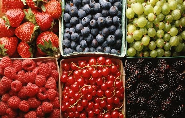 Picture berries, raspberry, strawberry