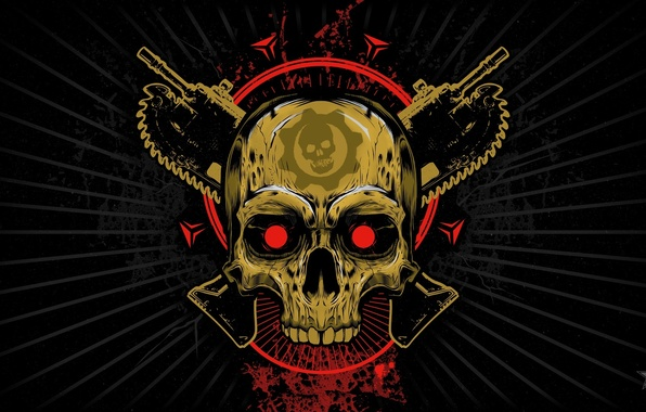 Picture Look, Skull, Emblem, Gears of War, Saw, Weapons, Xbox One, Microsoft Studios, Gears of War …