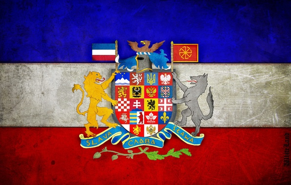 Picture flag, coat of arms, pan-Slavic