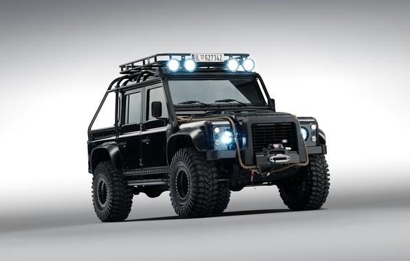 Picture Land Rover, land Rover, defender, James Bond, 2015, Defender 110, 007 Spectre, James baud