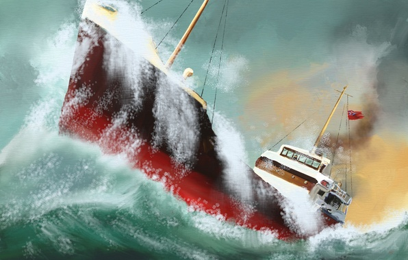 wallpaper sea wave the wind storm ship images for