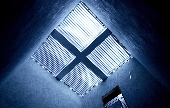 Photo wallpaper cross, grille, light