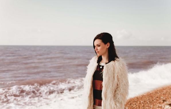 Picture beach, girl, singer, Amy Macdonald, Amy MacDonald