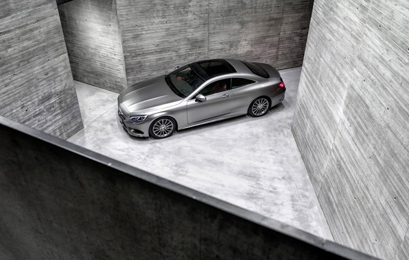 Picture Mercedes-Benz, Auto, Machine, Mercedes, Grey, Silver, Coupe, The view from the top, The room, S-Class, …