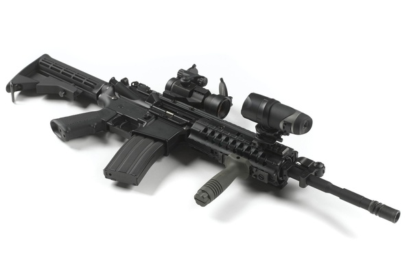 Picture weapons, background, machine, optical sight