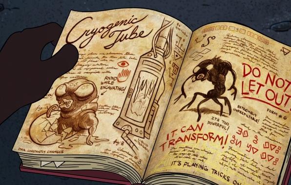 Picture cartoon, book, Cartoon, Gravity Falls, Gravity Falls
