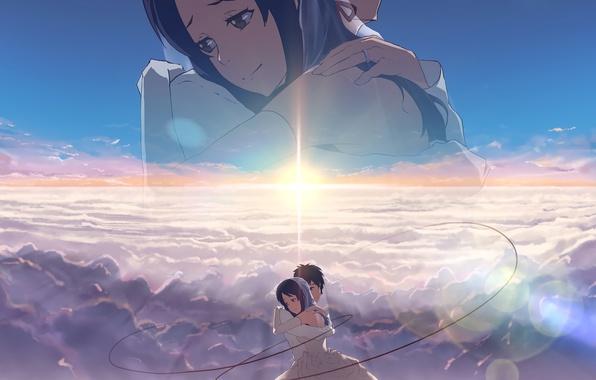 S Name Ka Wallpaper: Wallpaper Romance, Anime, Art, Hugs, Two, Kimi No VA On
