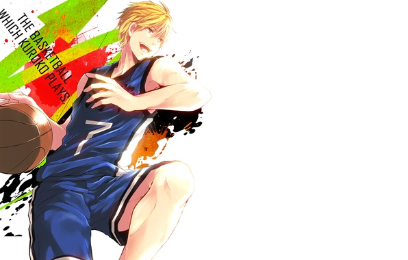 Picture squirt, text, jump, the ball, guy, seven, Kuroko From Basket, Ryouta, Kise