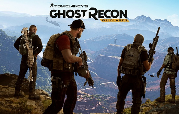 Picture mountains, the game, soldiers, Ubisoft, mercenaries, Tom Clancy's, Tom Clancy's Ghost Recon Wildlands, Ghost Recon …