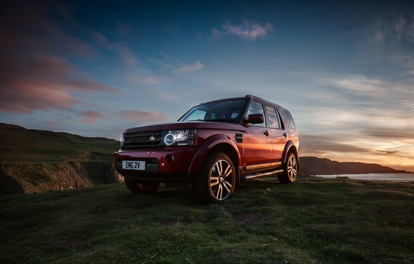 Picture machine, landscape, jeep, SUV, land rover, discovery