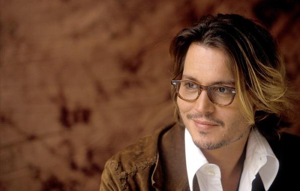 Picture Johnny Depp, glasses, actor, Johnny Depp, actor, glasses