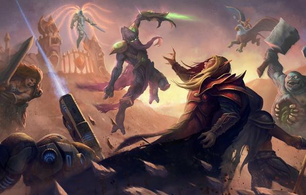 Picture starcraft, Warcraft, Sonya, blizzard, diablo 3, blood elf, Jaina Proudmoore, Zeratul, Tyrael, Heroes of the …