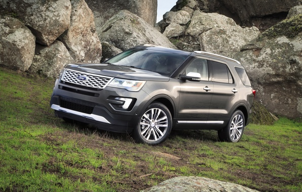 Picture photo, Ford, Grey, Car, Explorer, 2016