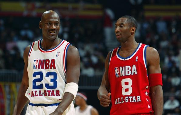 Picture Michael Jordan, basketball, basketball, smile, NBA, Michael Jordan, NBA, legends, Kobe Bryant, legends, smiles, Kobe ...