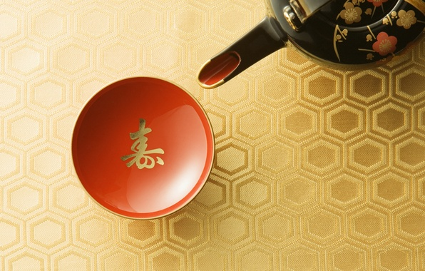 Picture Japan, kettle, the tea party, Cup, red, tradition