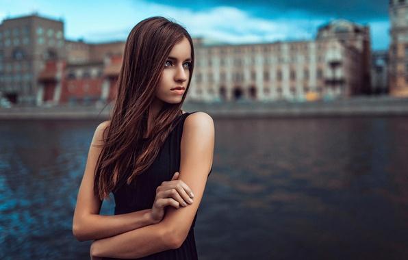 Picture look, the city, river, portrait, Russia
