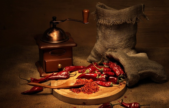 Picture red, pepper, bags, Chile