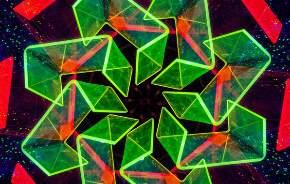 Picture pattern, color, the volume, rhombus