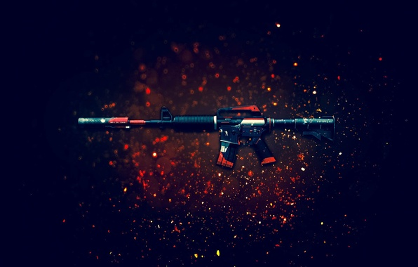 Picture weapons, background, rifle, assault, CS:GO