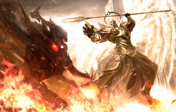Picture Diablo III, Blizzard Entertainment, Fan Art, Fanart, Video Game, Fight, Angel of the High Heavens, …