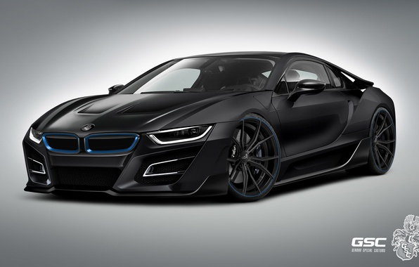 Picture bmw, concept, black, tuning, power, race, hybrid, germany