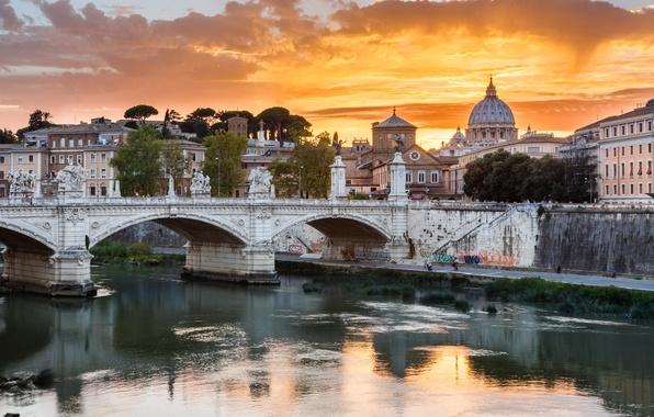 Picture bridge, The city, Roma