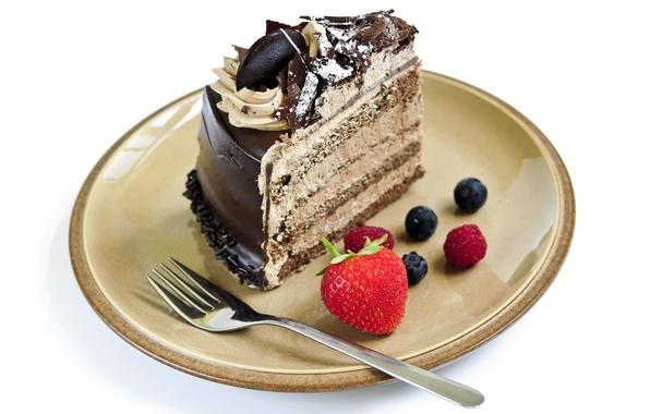 Picture raspberry, chocolate, blueberries, strawberry, plate, cake, cake, plug, cake, cream, dessert, cakes, cake, sweet, chocolate, ...