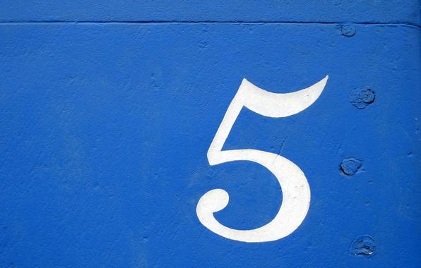 Picture background, figure, Texture, blue, art, five, cifra, sinee, pyat