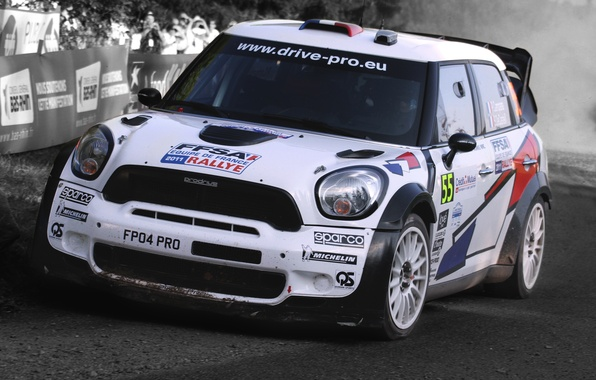 Picture White, Sport, grille, Machine, Race, The hood, Lights, Mini Cooper, Car, WRC, Rally, MINI, The …
