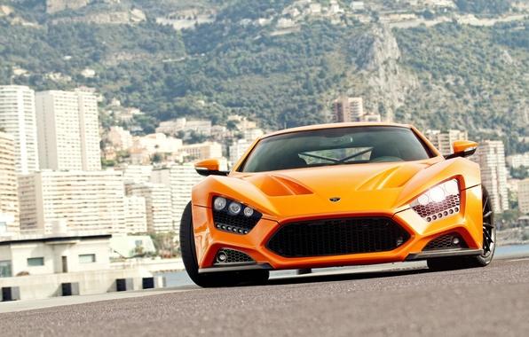 Picture orange, supercar, supercar, Blik, orange, zenvo, zenvo, st1