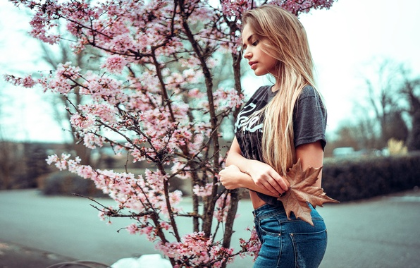 Picture girl, sheet, flowering, Mary Jane, Ivan Gorokhov
