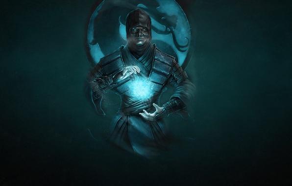 Picture cold, the dark background, dragon, ninja, mortal kombat, Sub-Zero, Sub-Zero