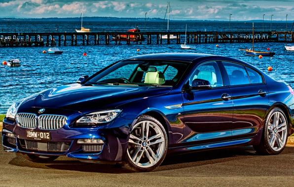Picture beach, shore, BMW, coupe, BMW, Gran Coupe, Sport, F06, AU-spec, 650i, 2015, 6-Series