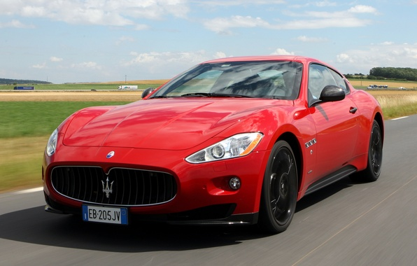Picture machine, red, Maserati, the front, GranTurismo S, MC Sport Line