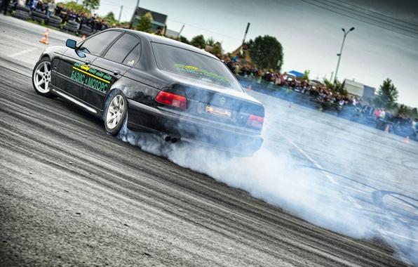 Picture smoke, bmw, BMW, skid, drift, drift, 540i