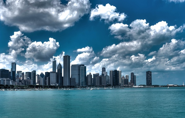Picture Chicago, Skyscrapers, USA, Chicago, skyline