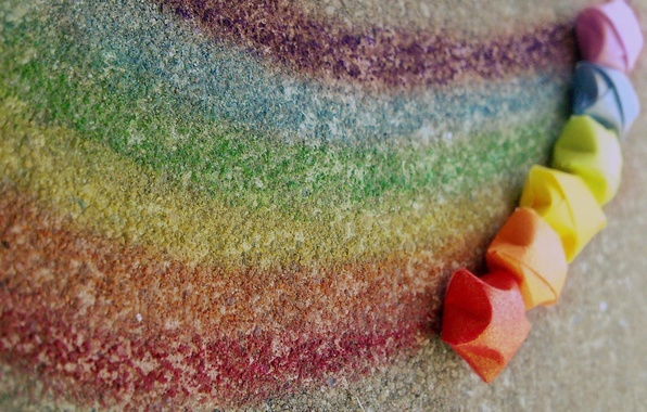 Picture color, macro, creative, rainbow, rainbow, colorful, stars, colours, lines, Mel