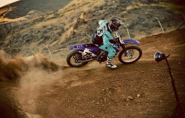 Picture race, dust, pilot, motocross, extreme sports