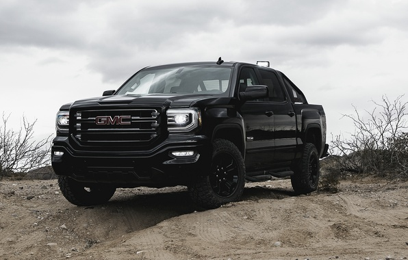 Picture sand, SUV, pickup, GMC, Sierra, Crew Cab, Giemsa