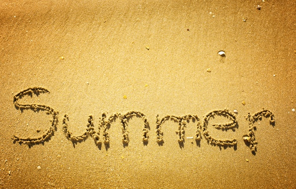 Picture sand, summer, the inscription