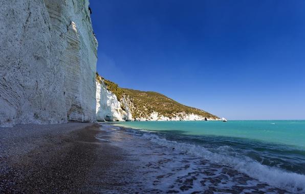 Picture sea, beach, landscape, rocks, coast, resort