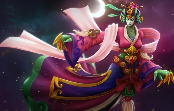 Picture girl, fan art, Dota 2, krobelus, death prophet