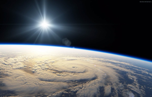 Picture space, light, star, planet, space, hurricane, light, star, planet