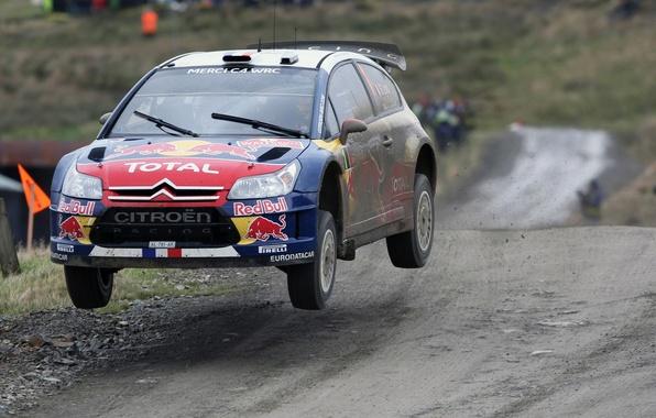 Picture Speed, Flight, Dirt, Citroen, Lights, Rally, Flies, Sebastien Ogier Front