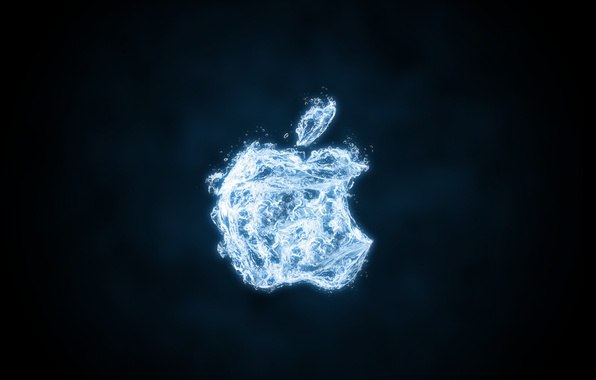 Picture water, Apple, logo