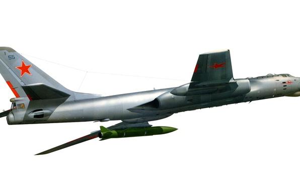 Picture star, USSR, red, star, the plane, red, missile, jet, Tupolev, Tupolev, multipurpose, Soviet, heavy, Tu-16, …